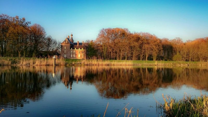 Water Reflections in the Oude IJssel, River View, Castle, Warm Glow during Sunset, EyeEm Nature Lover