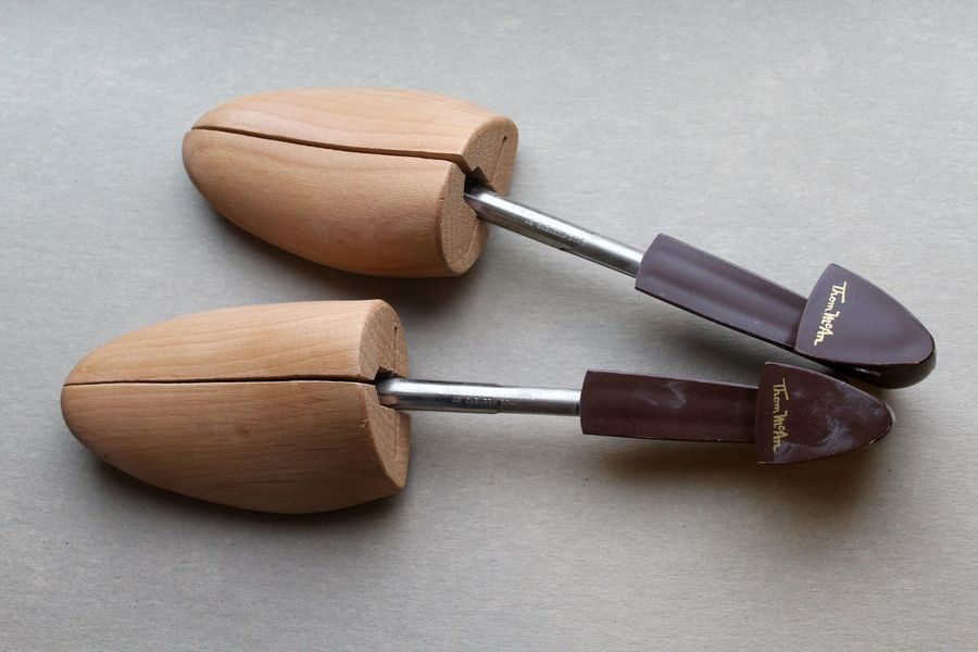 Vintage shoe keepers (shoe trees) from Thom McAn. American Antique Classic Made In USA Rochester, NY Shoe Shoe Tree Thom McAn Close-up Day Indoors  No People Old Shoe Keeper Shoe Keepers Vintage