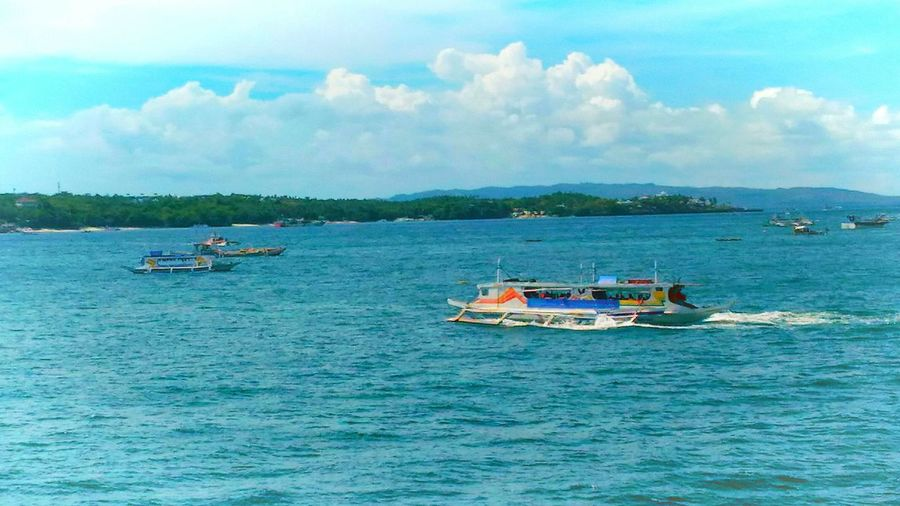 Iloilophilippines Real People Full Length Seascape Photography Boat Ride Beauty In Nature Landscape Sky Outdoors Cloud - Sky