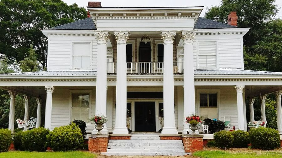 Architecture Façade Building Exterior Entrance Built Structure Architectural Column Door Outdoors Tree No People Luxury Government Day Politics And Government Sky Home Victorian Dawson Georgia Scenesofthesouth