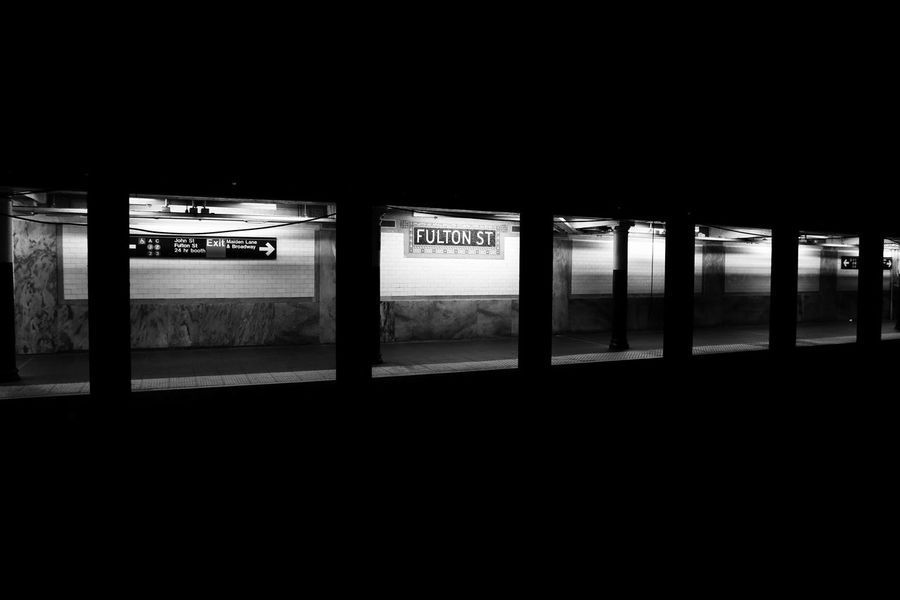 Underground Transportation City No People Guidance