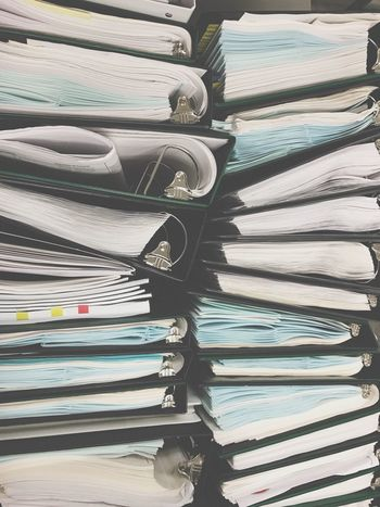 Document Paperwork Paper Still Life Stack No People Arrangement Indoors  Large Group Of Objects Close-up Journalism Day Binder