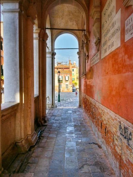 Shadows And Shades Monumental Arcades Mad About The Colours Of Venice Those Dark Oranges Scuola Grande Di San Rocco Venice Veneto Italy Travel Photography Traveling Travel