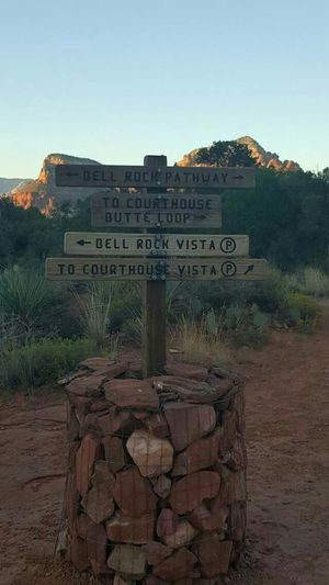 Hiking Bell Rock Hiking Adventures Trailblazing Sedona, Arizona Signs Which Way To Go?