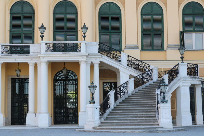 Architectural Column Architecture Austria Building Exterior Built Structure Lanterns No People Railing Residential Building Schönbrunn Staircase Steps Steps And Staircases Travel Destinations Vienna