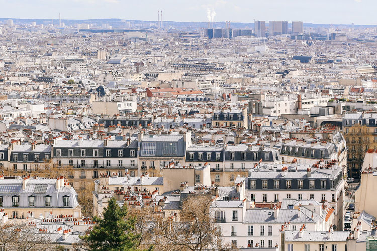 France Montmartre Paris Travel Architecture Building Building Exterior Built Structure City Cityscape Crowd Crowded Day High Angle View Outdoors Residential District Travel Destinations