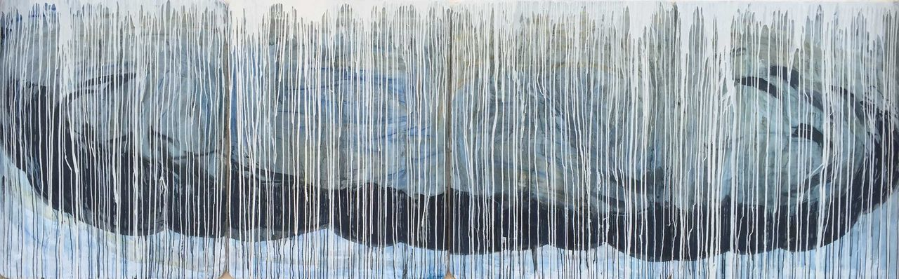 """""""Clouds"""" Joesarte consist of four canvas pretty big around 4'x3.5' each canvas(total of 4)"""