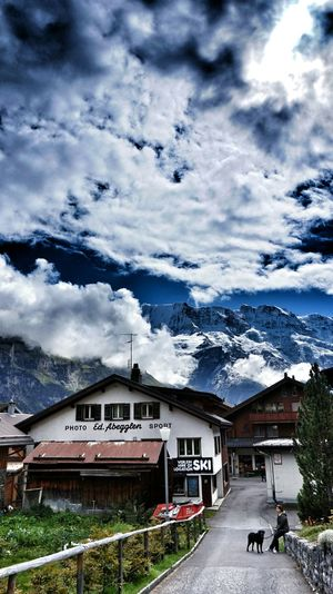The photo shop of Mürren Clouds And Sky Mountain View Cityscapes Eye4photography  EyeEm Best Edits Hdr_Collection Landscape Bernese Oberland Snapseed Switzerland