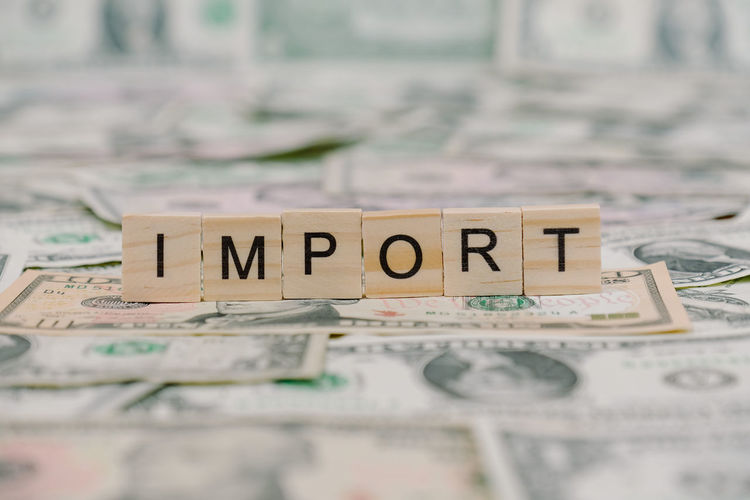 Import Import And Export Backgrounds Close-up Currency Finance Import Indoors  No People Paper Currency Savings Selective Focus Text Wealth