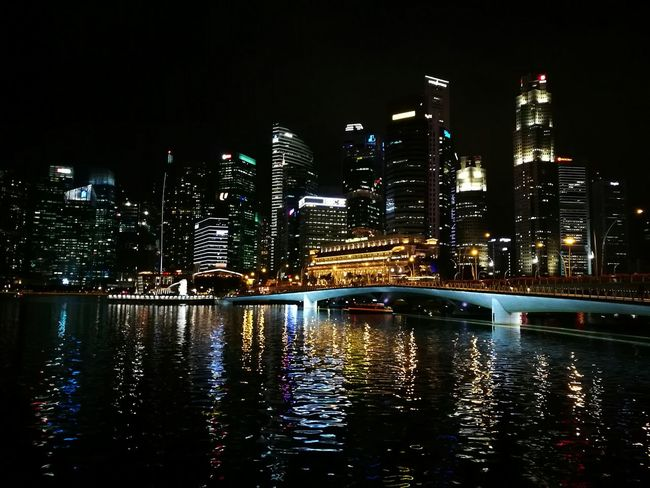 Building Exterior City Night Reflection Office Building Exterior Cityscape