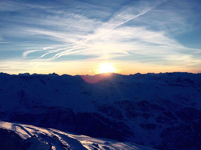 Meribel Les3vallées Sunset Sunlight ☀