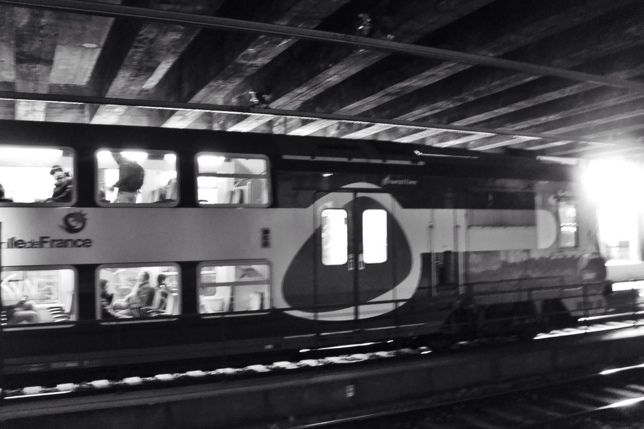 transportation, rail transportation, public transportation, train - vehicle, mode of transport, railroad station, railroad track, railroad station platform, indoors, travel, no people, built structure, day, architecture