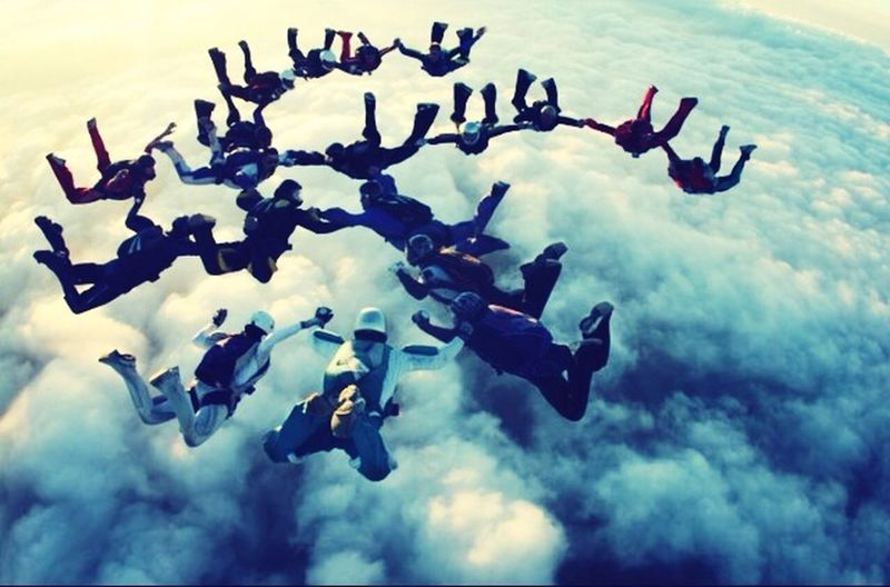 The Story Behind The Picture Skydiving Parachute Freefly Family