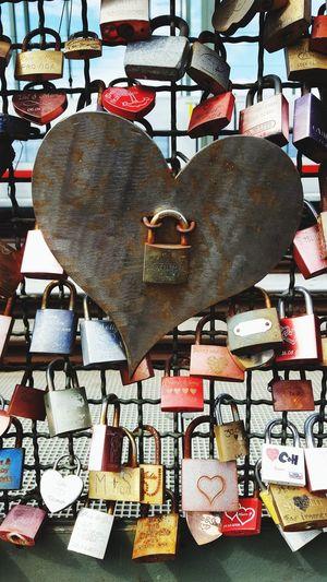 Locks of love in Colonge Love Germany Cologne Köln Locks Of Love Locks Thoughts And Memories Heart Shape I Love You