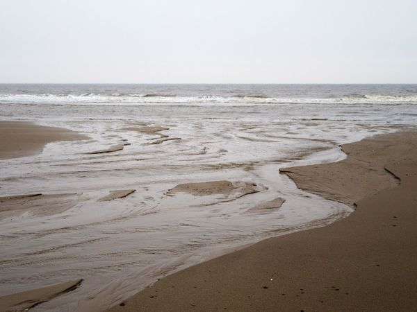 Rivulets joining the sea Beach Beauty In Nature Day Horizon Over Water Nature No People Outdoors Rivulets Sand Scenics Sea Sea And Sky Sky Tide Water Wave