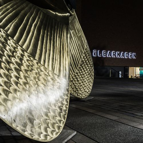 ship's propeller Architecture Built Structure Close-up Communication Day Elbarkaden Hafencity Hamburg Hamburg Harbour Iluminated Messing Night Night Photography No People Ship's Propeller Text