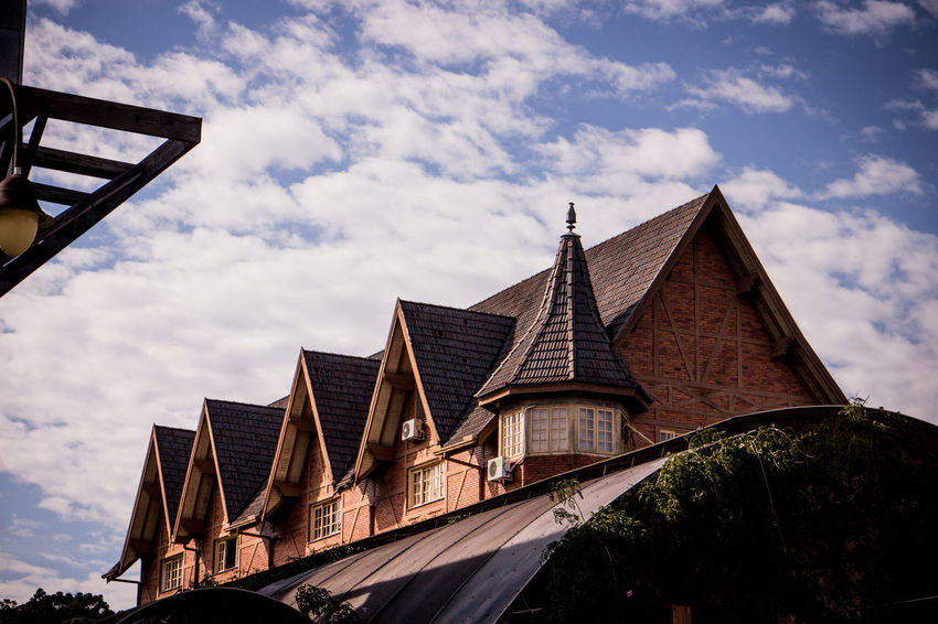 Gramado, Brazil Architecture Building Exterior Built Structure Cloud - Sky Day Low Angle View Nature No People Outdoors Place Of Worship Religion Sky Spirituality Tree