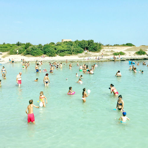 Spiaggia di Torre Pozzelle - Ostuni (BR) Puglia Italy Sea And Sky Sea Holiday Puglia Sunlight Bathers Beach Enjoyment Fun Italy Lifestyles Nature Outdoors People Summer Swimming Water