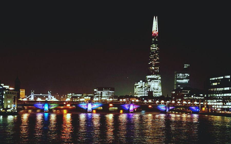 Thames River Thames At Night Night River Shard London Nightphotography Night Lights LONDON❤ London Lifestyle Landscape