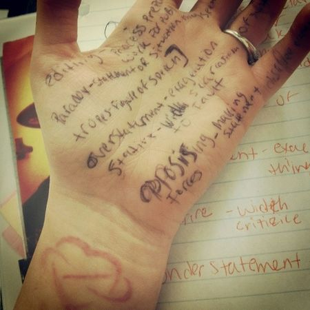 Forgot a test so I do it the easy way(: Cheater Loveit Tattoo Ink hateschool probabkystillgonnafail blaaah