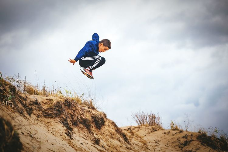 Capture The Moment jumping on the sanddunes!😎📷👌 Boy Jump Levitation Fun Playing Sand Carefree Freedom Children www.pandevonium.com INEEDNATURE Youth Of Today