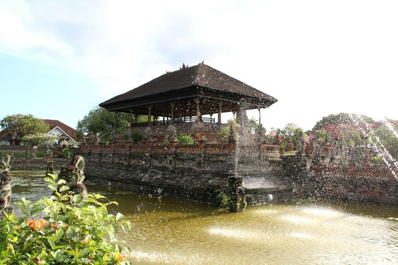 Architecture Klungkung Temple Bali INDONESIA Water