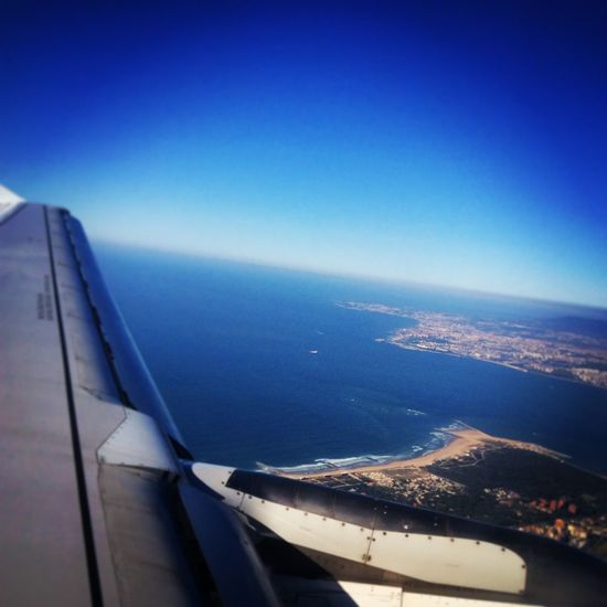 Lisbon From A Airplane Window