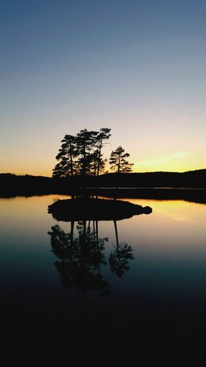 Island in the Vegår, Vegårshei - Norway during sunset. Reflection Sunset Lake Sky Nature Tree Beauty In Nature Outdoors Landscape Norgeibilder Norge🇳🇴 Norway🇳🇴 Scenics Water Tranquility