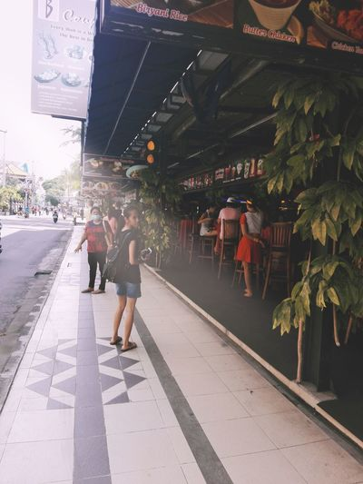 Bali, Indonesia People Walking Alone...