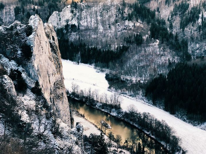 Drone  Winter Donautal Dronephotography Droneshot Dronie Germany River Snow