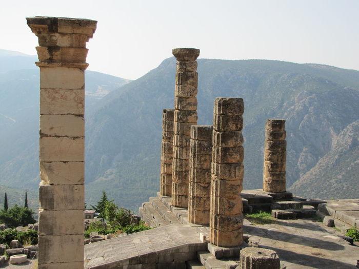 Historical site of delphi in greece