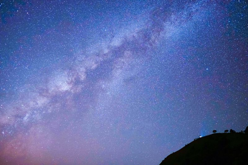 Milky Way in Great Universe over the mountain peak Leisure Activity Park View Camping Mountain Peak Nebula Universe Night Sky Thailand Star - Space Night Astronomy Space Galaxy Sky Scenics - Nature Beauty In Nature Star Field Space And Astronomy Tranquil Scene Tranquility Milky Way Idyllic Science Outdoors Nature Low Angle View Star