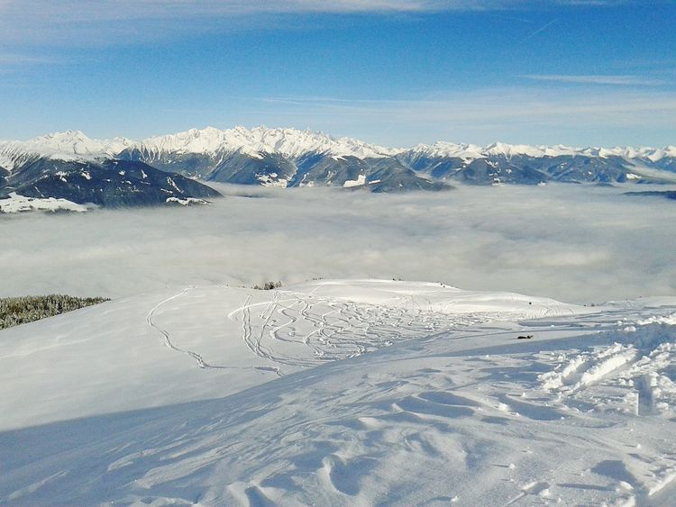 Snowcapped Mountains Dolomites, Italy over the clouds ,heaven so close Freeskiing Original Experiences Feel The Journey A Bird's Eye View My Year My View Miles Away Shades Of Winter