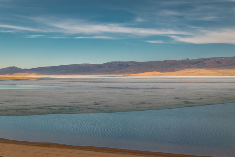 Mongolia Scenics - Nature Beauty In Nature Sky Mountain Tranquil Scene Cloud - Sky Tranquility Water Mountain Range Sea Idyllic Nature Non-urban Scene Land No People Day Environment Landscape Blue Outdoors Salt Flat