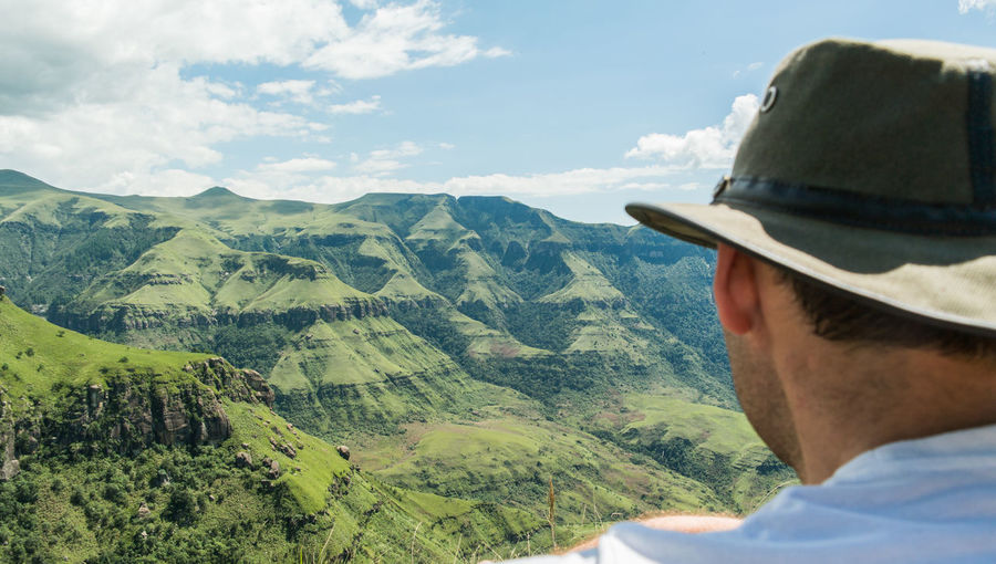 Drakensberg, South Africa Drakensburg Mountains, South Africa, Mountain Hat Headshot Miles Away Mountain Mountain Range Nature One Man Only One Person Only Men Outdoors Scenics South Africa Winterton Winterton Drakensberge Young Adult