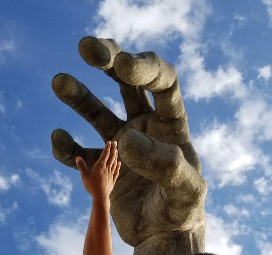 10 Fingers 10 Human Hand Sky Close-up Cloud - Sky Sculpted