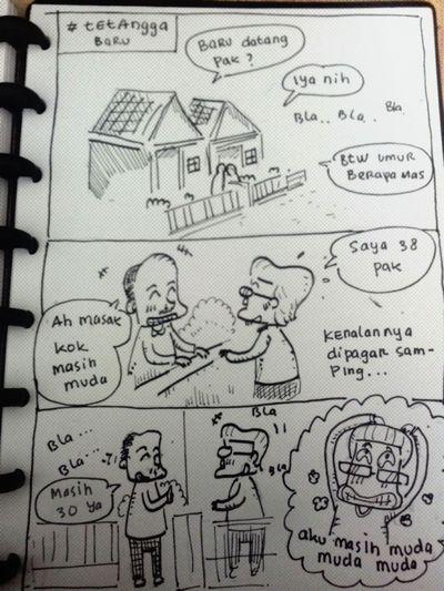 tetengga baru yang jujur Dailysketch Daily Life Sketchbook SkecthArt Sketching Comicdaily Comic Comics Komiklokal INDONESIA