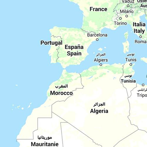 Morocco Map Africa Morocco Map