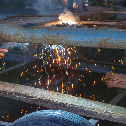 Welding steel,lighting Welding Steel Welding Work Working Work Dark Light Light And Shadow Lighting Beauty In Nature Vacations Vertebrate Vulnerability  Outdoors Indoors  Urban Skyline Young Adult Tree Real People Enjoying Life Metal Rock Day Growth Green Dog