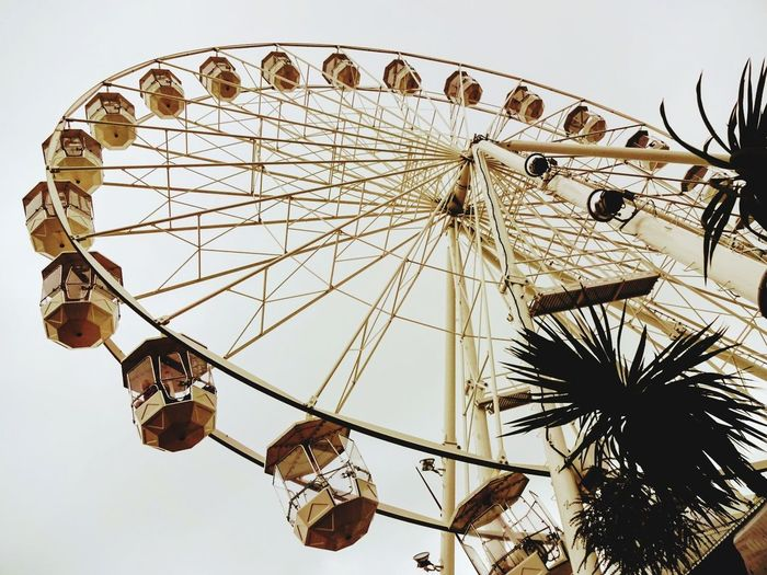 Arts Culture And Entertainment Ferris Wheel Low Angle View Sky No People Day Outdoors Carousel Vintage Lenses England🇬🇧 Seaside Life Filterphotography Beauty In Ordinary Things Perspective Done That.