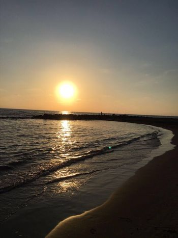 Summer ☀ Sea Sunset Beach Water Horizon Over Water Beauty In Nature Tranquil Scene Nature Scenics Tranquility Sky No People Sun Peace Beauty All I Need