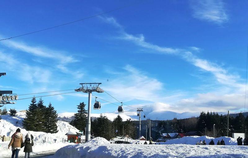 Uludag Bursa Holiday EyeEm Best Shots EyeEm Nature Lover White Happiness Nature Tree Snow Cold Temperature Winter City Blue Ski Lift Sky Cloud - Sky