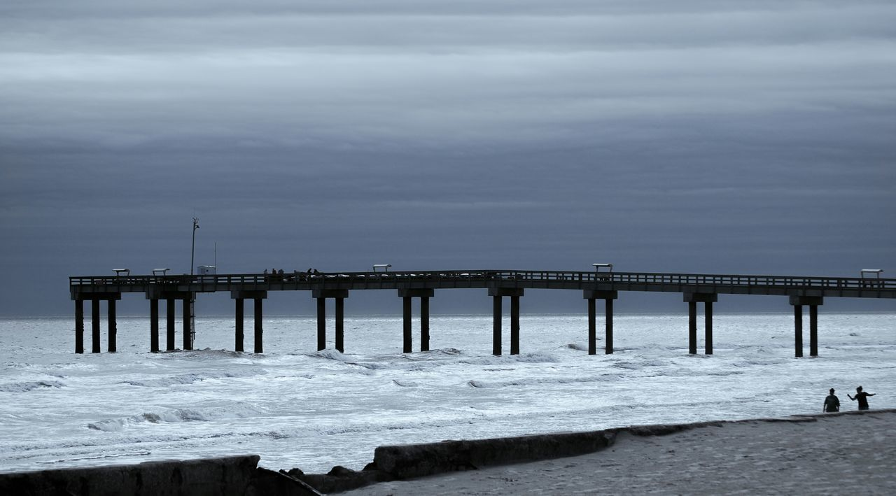 sea, water, pier, nature, connection, beach, built structure, day, outdoors, no people, tranquility, horizon over water, architecture, sky
