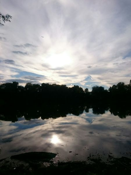 The last sunny days Water Tree Reflection Silhouette Beauty In Nature Cloud - Sky Nature Cloud Sky Cloudy Outdoors Countryside Reflection Nature_collection Naturelovers