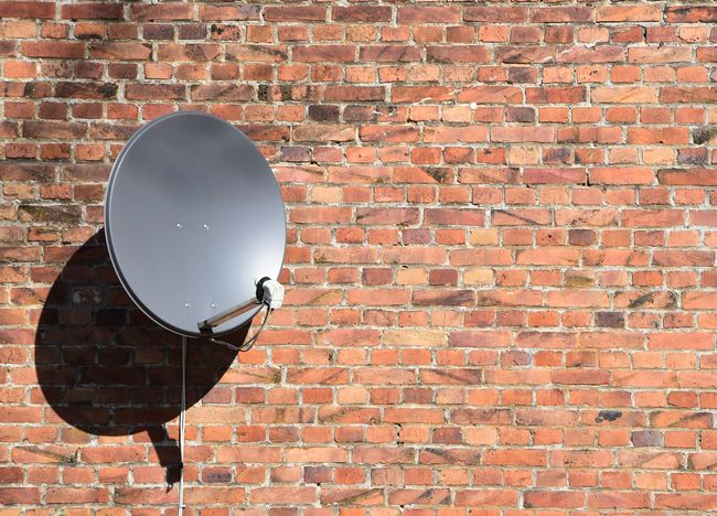 satellite dish on wall Backgrounds Wallpaper Wall Technology Satellite Dish Tv Radio Home Wireless Technology Wire Internet Object Space Industry Modern Old Biting Net No People Day Outdoors