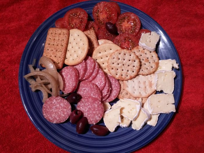 Mmmm😆😄Plate Food And Drink Indoors  Meat Directly Above Freshness Food Spuntino Ready-to-eat Close-up Healthy Eating Camembert Yummy Food Photography Serving Size Delicious Mezze Smörgåsbord Platter Appetizer Freshness Goodies Snack Time! Nibbles Ways To A Womans Heart