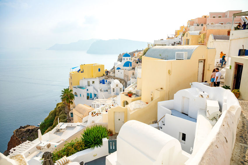Greece Santorini Island Architecture Building Exterior Built Structure Water Building Sea City Residential District Nature Whitewashed Day No People Town Sky High Angle View Travel Destinations Outdoors White Color TOWNSCAPE