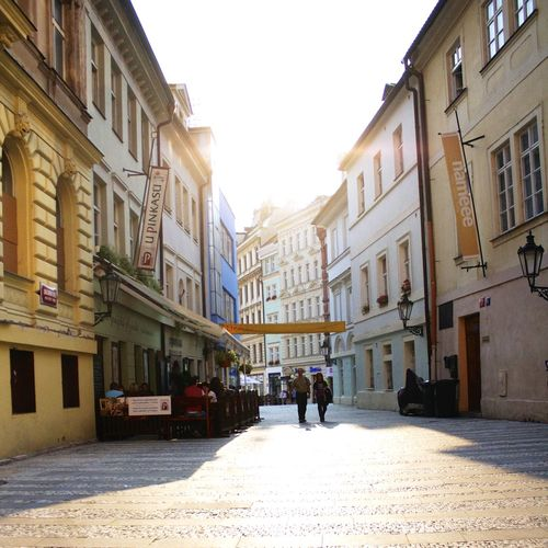 Architecture Building Building Exterior Built Structure City City Life Day Diminishing Perspective Façade Lifestyles Outdoors Prague Residential Building Residential Structure Sky Sunshine The Way Forward