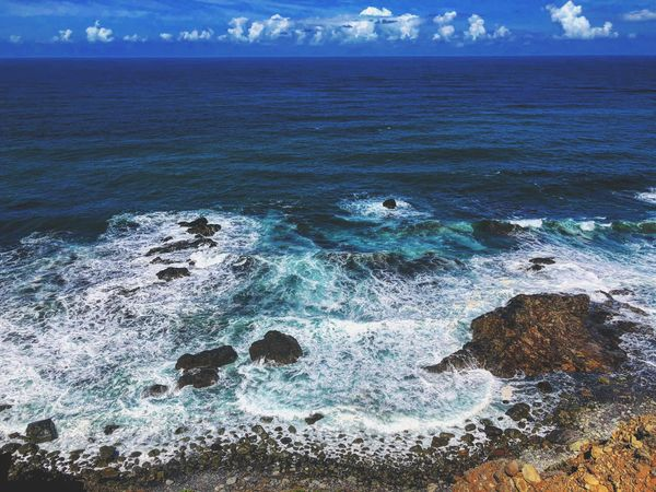 PTGallery Water Sea Beauty In Nature Scenics - Nature Nature Land Beach Wave Cloud - Sky Outdoors No People Aquatic Sport Power In Nature Day Sky Tranquility Tranquil Scene Sport Motion