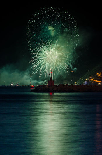 Fireworks from Salerno Amalfi Coast Cetara Salerno Architecture Blurred Motion Building Exterior Celebration Event Exploding Firework Firework - Man Made Object Firework Display Illuminated Light Long Exposure Motion Nature Night No People Outdoors Reflection Sky Sparks Water Waterfront